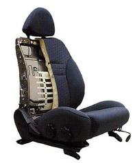 フロントシートに、腰椎から胸椎までを面で支えることを狙ったシュクラ社製のランバーサポートを採用。サポート位置は、無段階に調整できる。