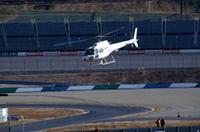 ホンダ、ヘリコプターでもてぎへ送迎の画像