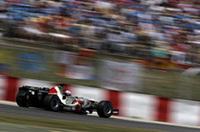 ポイント獲得に照準を定めたホンダは、ジェンソン・バトン(写真)6位、ルーベンス・バリケロ7位と目標達成。しかし、トップのアロンソから遅れること約1分。そのギャップは大きい。(写真=Honda)