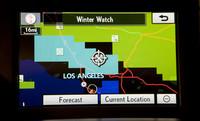 「Lexus Enform」のナビゲーション画面