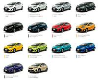 ボディーカラーは14色の設定。これらにフレックストーン4色を加えた、全18種類のカラーバリエーションが用意される。