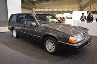 会場に展示された「ボルボ960ワゴン」。