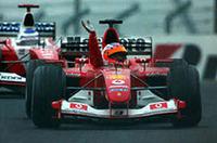 F1日本GP、バリケロ優勝、シューマッハーが6度目のタイトル獲得!【F1 03】の画像