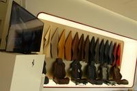 カスタマイズプログラム「フェラーリ・テーラーメイド」の展示エリア。