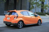 「トヨタ・アクア」シリーズに追加されたクロスオーバースタイルの新モデル「X-URBAN」。2014年12月のマイナーチェンジ時に導入された。