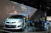 【東京オートサロン2006】マツダ、新型「MPV」先行発表、レース用「ロードスター」「RX-8」も
