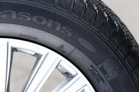 サイドウオールに施された「SNOWマーク」。日本で冬用タイヤとして認められている証しだ。