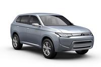 こちらが、東京モーターショーに出展するプラグインハイブリッド車「コンセプトPX-MiEV II」。