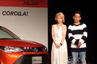 こちらもテレビCMに出演する、歌手の加藤ミリヤと清水翔太。