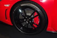 ブレーキキャリパーがレッドに塗装されるのはランボルギーニの歴史上初とのこと。