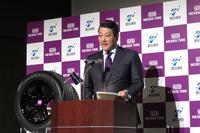 ネクセンタイヤジャパンの西村 竜社長。日本市場における目標として、輸入車ブランドNo.1のシェア獲得を挙げた。