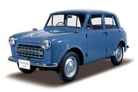 1955年に登場した「ダットサン・セダン」(写真は1956年式「ダットサン・セダン113型」)。