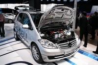 「Aクラス」ベースの電気自動車も、すでに量産レベルに達している。今秋、まず500台が生産される予定。