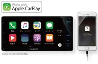 Apple CarPlayとAndroid Autoの両方に対応。スマートフォンと連携して音楽再生や音声操作などが可能。