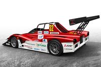 「MiEV Evolution III」は、2013年の競技車両である「MiEV Evolution II」に改良を加えたものだ。駆動システムには4基のモーターで4輪を駆動する電動4WDを採用。ボディーは、スチール製パイプフレームにカーボン製のカウルをかぶせている。