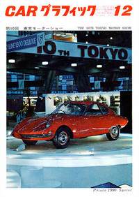 『CARグラフィック』1963年12月号の表紙を飾った、スカリオーネと井上猛氏のコラボレーションによる「スカイライン1900スプリント」。スカイラインスポーツと同じグロリア用シャシーに流線型のボディを載せたもので、同年の第10回全日本自動車ショー(TOKYO MOTOR SHOW)に参考出品された。