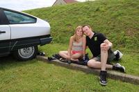 「CX」は手頃な値段であることもあって、ヤングタイマー車を愛する若いファンも。マキシム君は20歳。「ソファが走りだしたようで、快適よ」とガールフレンドもご満悦。