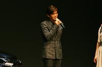 発表会では俳優の佐藤浩市さんが登場。トークショーが行われた。