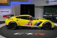 レーシングモデルの「コルベットC7.R」。北米で開催される新シリーズ「TUDORユナイテッド・スポーツカー・チャンピオンシップ」に参戦するほか、6月に開催される、ルマン24時間耐久レースにも出場を予定している。