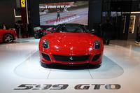 中国がワールドプレミアの場に選ばれた、「フェラーリ599GTO」。