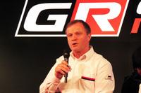 WRCで4度のドライバーズタイトルを獲得しているトミ・マキネン氏。「勝てるチームは高い志を持つ人が家族のように団結している。今はそういうチーム作りに力を入れている」と語った。