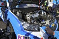 「シボレー・クルーズ1.6T」の心臓部。1.6リッターのガソリンターボは、310hp、40.8kgmを発生する。