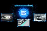 「Toyota Safety Sense」の中心となる3つの予防安全機能。