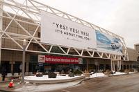 北米国際自動車ショーの会場となった「COBO CENTER(コボセンター)」の様子。