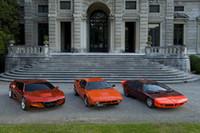 写真左から、「M1オマージュ」「M1」「BMWターボ」