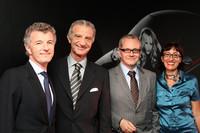 発表会には多くの要人が駆けつけた。左からグッチ ジャパンのクリストフ・ドゥ・プゥス プレジデント&CEO、ヴィンチェンツォ・ペトローネ駐日イタリア大使、フィアット ジャパンのポンタス・ヘグストロム社長、同じくフィアットのティツィアナ・アランプレセ カントリーマネージャー。
