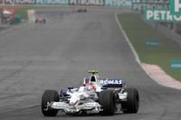 フェラーリには追いつけず、しかし他車からは脅かされず。BMWのクビサは、孤独なレースを自身最高位の2位で終えた。(写真=BMW)