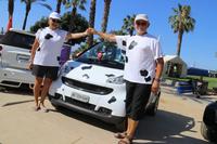 ローザンヌから1500kmかけてやってきたデュボワ夫妻は、牛柄の愛車で参加。