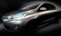 「三菱コンセプトG4」 車名の「G4」は「Global 4-door Sedan」の略。