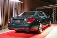 ホイールベースは「メルセデス・ベンツSクラス」のロングより20cm長い3365mm。ボディーサイズは全長5460×全幅1900×全高1495mm。