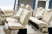 全車、プリテンショナー&ロードリミッター付フロント3点式ELRシートベルトを標準装備。後席にはISO FIX対応チャイルドシート対応構造&デザーアンカーを備える。