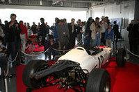 「Honda原点の想い〜いつまでも伝えたいものがある〜」の展示場から、1965年F1マシンRA272。