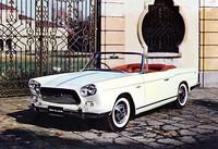 スカイラインスポーツ・コンバーチブル。60年の第42回トリノショーに出品されたアレマーノ製のプロトタイプで、イタリアで撮影されたカットであろう。