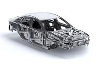 スケルトンボディーのイメージ。先代モデル比で-190kgという大幅な軽量化は、新型「XF」の大きなトピックだ。