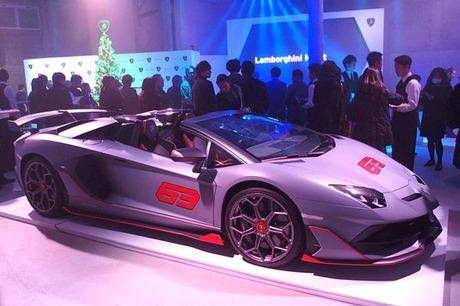 2019年12月13日に東京・青山の Francfranc SQUAREで開催された「Lamborghini Night 2019」。「アヴェンタド...