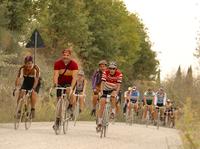 2017年10月1日にトスカーナ州シエナ県で催されたヴィンテージ自転車走行会「エロイカ」にて。
