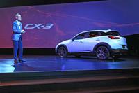「CX-3」の最大のマーケットは北米。次が欧州で、3番目に日本が来る見込み。