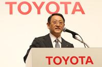 トヨタ自動車の豊田章男社長。