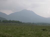 戦場ヶ原の湿原中、こんもりとした丘のような場所がある(写真中央左)。これは「糠塚(ぬかづか)」と呼ばれるもので、前白根山につながる尾根だった場所が、男体山の噴火で分断され、残された部分だという。