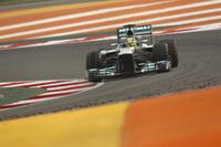 2番グリッドからスタートでフェリッペ・マッサに出し抜かれたメルセデスのロズベルグ。最初のピットストップでフェラーリを抜き返すことに成功したことが2位表彰台につながった。今季2勝しているロズベルグにとって、8戦ぶりの表彰台となった。(Photo=Mercedes)