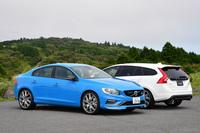 「ボルボS60/V60ポールスター」の日本への割り当ては、S60(手前)が35台、V60(奥)が65台の合計100台。