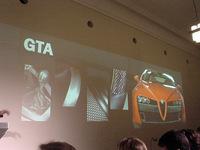 プレスカンファレンスで一瞬紹介された「159GTA」の勇姿
