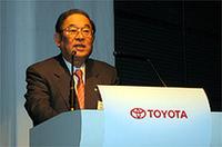 トヨタ自動車の張富士夫社長