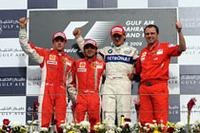 第3戦バーレーンGP、マッサ優勝でフェラーリ1-2達成 【F1 08】