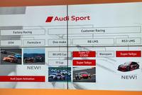 2017年のモータースポーツ計画を示すスライドから。今季は電動フォーミュラーカーのレース「フォーミュラE」に参戦するほか、「スーパー耐久」へのエントリーも計画されている。