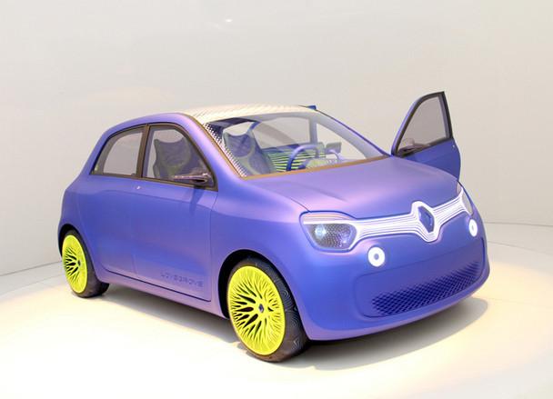 ルノーがロス・ラブグローブ氏にデザインを託した後輪モーター駆動EV「トゥインジー」。関係者によると、次期「トゥインゴ」の在り方も暗示しているという。